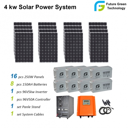 Wholesale 4kw Home Use off Grid Solar PV Panel Energy Power System