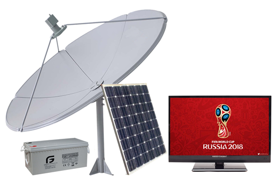 How to watch World Cup without electricity ? -  12 Volt Solar Power TV