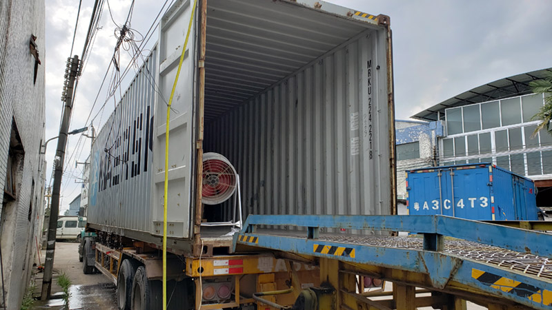 How to load container in the hot summer?