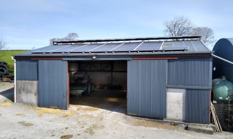 Infrastructure approach: installing solar panels on a dairy farm in Co. Cavan